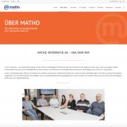 neue Webseite matho informatik ag